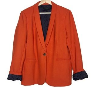 J. Crew Orange Wool Blend Parke Blazer Jacket
